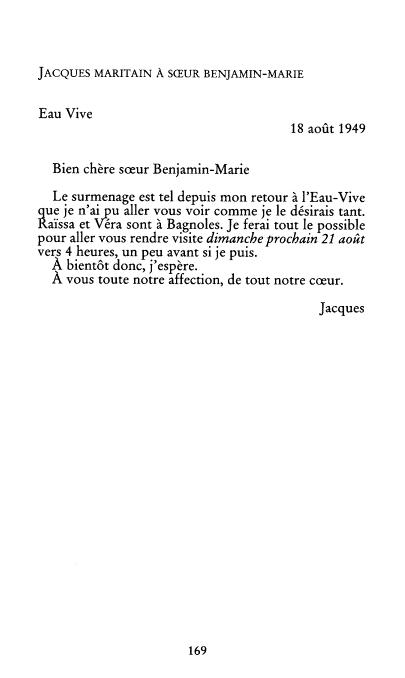 | Correspondance Fondane - Maritain |
