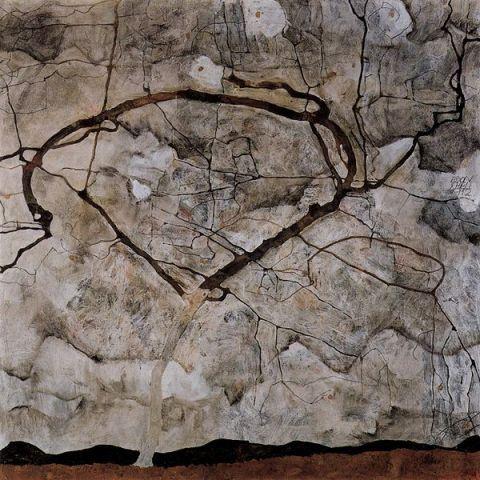Egon SCHIELE | Herbstbaum im Wind | 1912