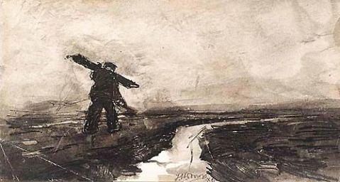 Jan Theodore TOOROP | A farmer returning home | 1886