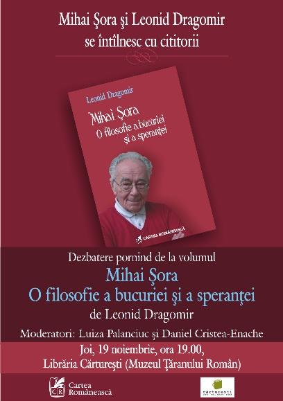 Afis_Mihai_Sora_O_filosofie_a_bucuriei_si_a_sperantei