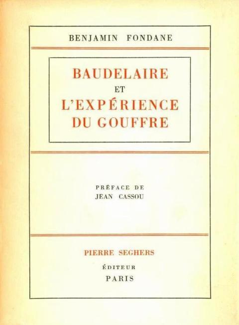 FONDANE_Benjamin_Baudelaire_et_l_experience_du_gouffre_edition_1947_couverture