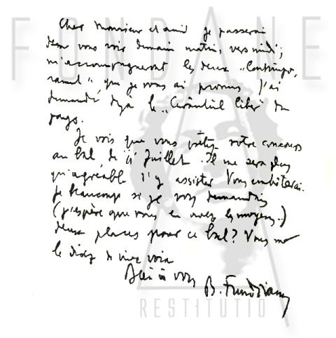 B. Fundoianu – Correspondance | cca. 1930